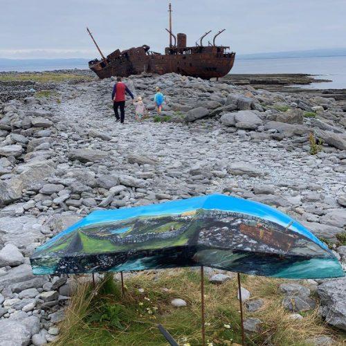 Clann Uí Thuathail ón Tismeán sa tóir ar na foghlaithe mara ag an bPlassey in Inis Oírr